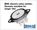 B9A - Ceramic 9 Pin Valve Socket