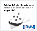 British 4/5 Pin - Ceramic Valve Socket