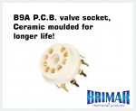 B9A - Ceramic 9 Pin Valve Socket (PCB)