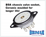 B9A - Ceramic 9 Pin Valve Socket