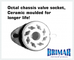 Octal - Ceramic 8 Pin Valve Socket